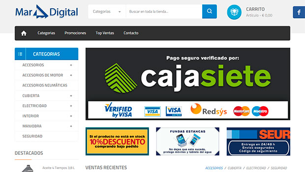 Tienda virtual Mar Digital